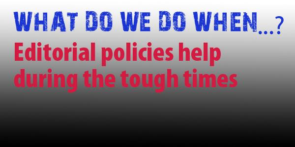 Can we share editorial policies?