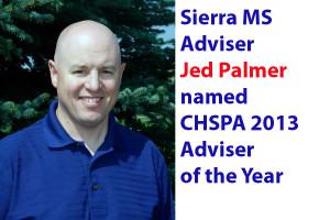 Palmer named CHSPA Adviser of Year