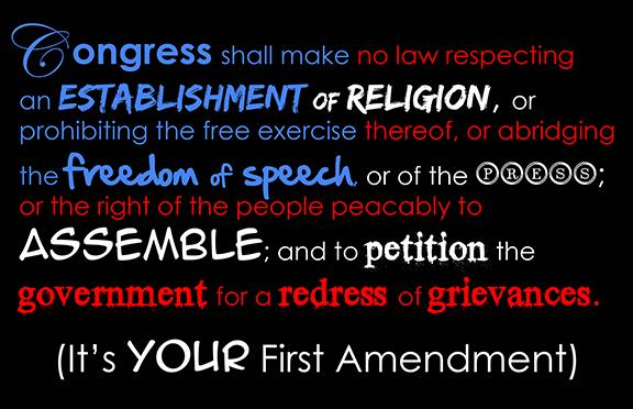 Our First Amendment test is here. We can't afford to flunk it.