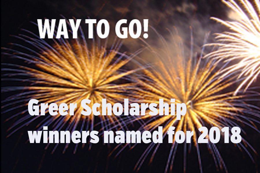 Greer Scholarship winners named