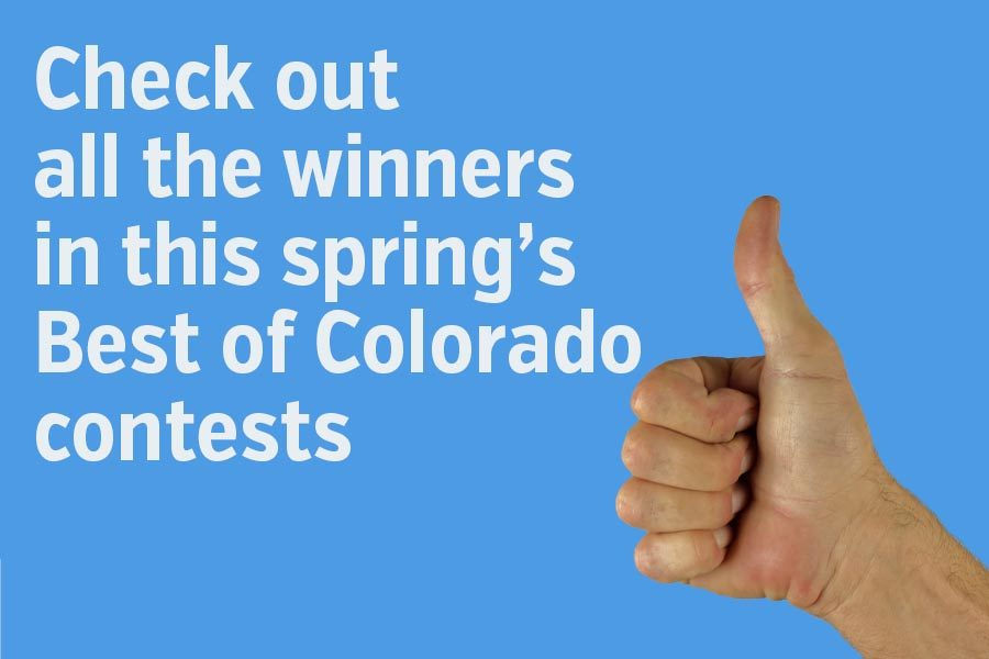 Best of Colorado award certificates are in the mail